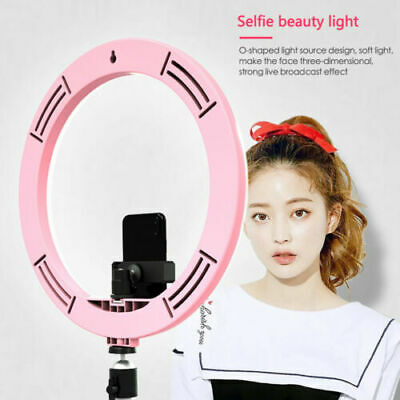 "12"" 180Pcs LED Photography Ring Light Dimmable 5500K Lighting Photo Video Stand"
