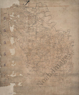 Map of Hanover County Virginia c1864 24x30