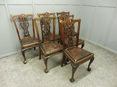 A Set Of Six Antique Mahogany Dining Chairs Circa 1890