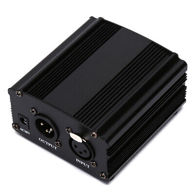 48V DC Phantom Power Supply For Condenser Recording Microphone +US/EU Power RA