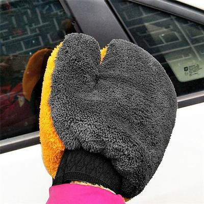 1pcs Multifunction Car Wash Gloves Coral Fleece Velvet Cleaning Cloth Care Shan
