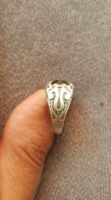 African Rare ancient antique solid silver ring beautiful artifact authentic