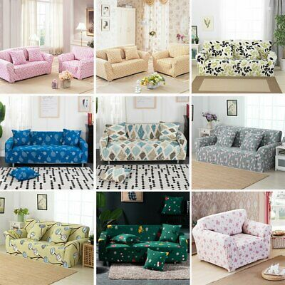 1/2/3/4 Sofa Covers Couch Slipcover Stretch Elastic Fabric Settee Protector CN