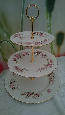 "Royal Albert ""Lavender Roses"" XL 3-tier Cake stand"