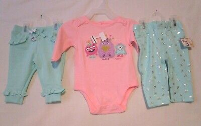 Clothing, Shoes & Accessories Punctual Used Infant Girls Garanimals 2 Short Sleeve Bodysuit Shirts Size 3-6 Months