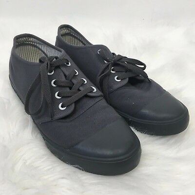 BANGS Womens 10.5 Mens 9 Stonehenge Gray LT Low Top Canvas Sneakers Shoes Laceup