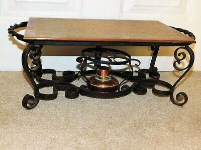 Henry Loveridge Wrought Iron & Hammered Copper Arts & Crafts Food Warmer