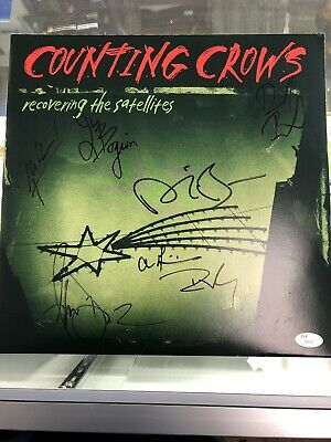 Counting Crows Band Signed Recovering The Satelites Vinyl Record JSA Cert Z99307