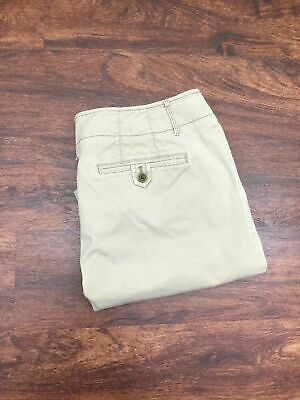 EDDIE BAUER Vashion Fit Khaki Chinos Mid Rise Beige Pants Women's Size 12