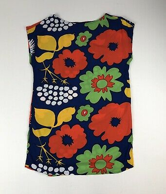 80017362975 Marimekko for Target Retro Floral Kukkatori Tunic Dress Swim Cover Up Sz M