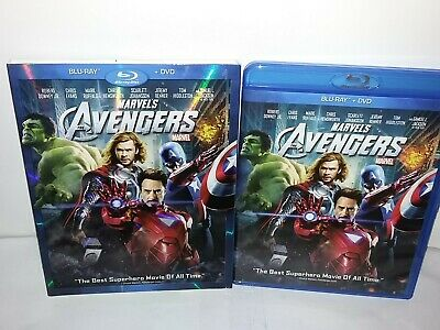 Marvel'sThe Avengers (Blu-ray/DVD, Canadian,, 2-Discs, Slipcover 2012) Excellent