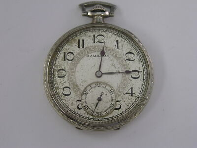 Vintage Hamilton 14k Gold Fill 17jewel Automa Hand Winding Pocket Watch 44.5mm With The Best Service