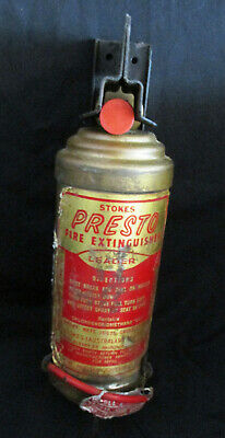 Stokes Presto 1940s Wall Mounted Fire Extinguisher - Delivery Included