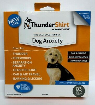 ThunderShirt Size XXS Solid Grey Insanely Calm Dog Anxiety NEW #1202