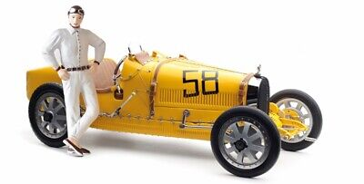 1924 Bugatti T35 Belgium w Female Figurine by CMC Diecast Model