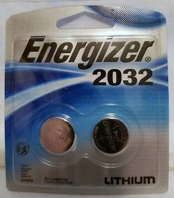 Energizer CR2032 Batteries 3V Lithium Coin Cell Battery 2 Pack