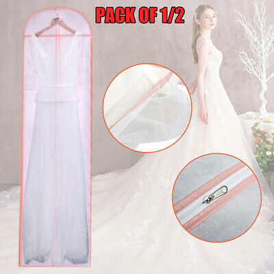 1/2Pack Breathable Long Dress Cover Storage Bag for Wedding Gown Dress AU O1S3Z