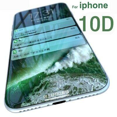 10D FULL Tempered Glass Screen Protector for iPhone 6 6S 7 8 Plus X XR XS Max HO
