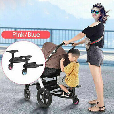 Buggy Board with Seat Toddler Buggy Wheel Board Skateboard for Prams Joggers