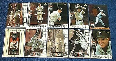 Mickey Mantle 1994 Upper Deck Baseball Heroes Set { 1- 10 } Bv$80.00