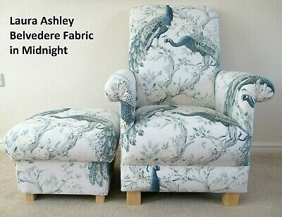 Marvelous Laura Ashley Belvedere Midnight Fabric Adult Chair Onthecornerstone Fun Painted Chair Ideas Images Onthecornerstoneorg