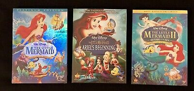 Little Mermaid Trilogy (3-Disney DVD Combo Free USPS Shipping!)