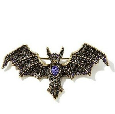 """Heidi Daus 'Batty For You""""  Colored Crystal Pin"""
