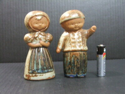 Rustic Girl and Boy ceramic Salt and Pepper shakers