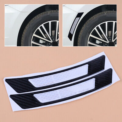 2×Carbon Fiber Car Wheel Eyebrow Arch Cover Lips Strip Fender Flare Protections