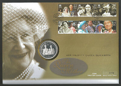 1999 Isle Of Man Queen Mother - 1 Crown - Mercury Coin Cover - 1 Crown Pnc / Fdc