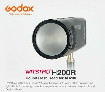 AU Stock Godox H200R Round Flash Head Separation Extension Head for AD200 Flash