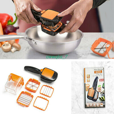 7In 1 Multi-Cutter Nicer Dicer Quick Slicer Vegetable Food Fruit Cutter Chopper