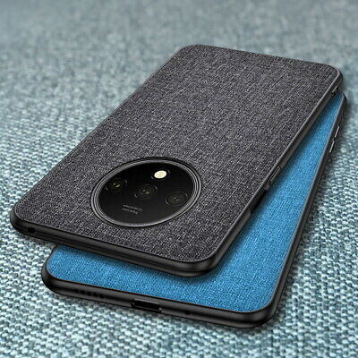 For OnePlus 7 Pro 7 6T 6 Hybrid Cloth PU Bumper Hard Shockproof Case Cover Skin