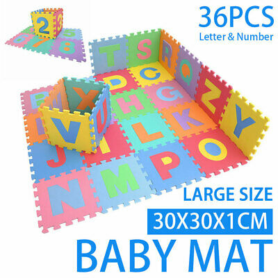 36PCS Kids Baby Alphabet/Number/Color Interlocking EVA Foam Floor Mats Gift