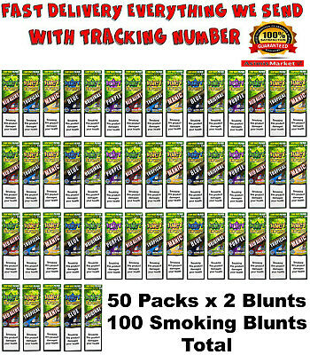 Juicy Jay's Rolling Papers Hemp Wraps Mixed Flavors (45 Packsx2=90 Smoke Blunts)