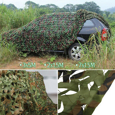 Filet Camouflage Forêt Jungle Camo Net Camping Chasse Cacher Armée Militaire WC