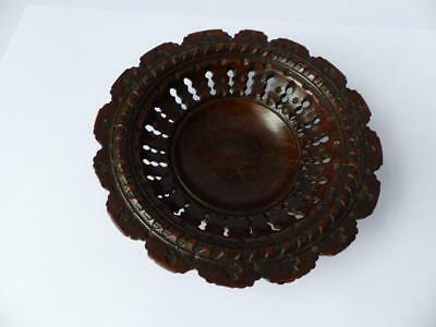19th c Wooden Bowl - Hand Turned/Carved Wooden Bowl - Antique Woodware