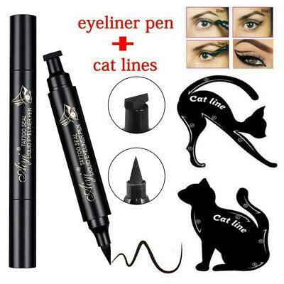 2in1 Eyeliner Dual-ended Eyeshadow Tool Women Waterproof Makeup Seal Pen Liquid