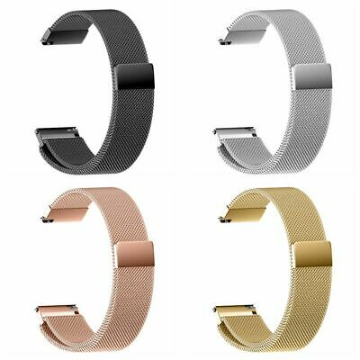 Milanese loop Watch Band Strap Stainless Steel Thin Mesh Belt 16-22 mm Magnetic