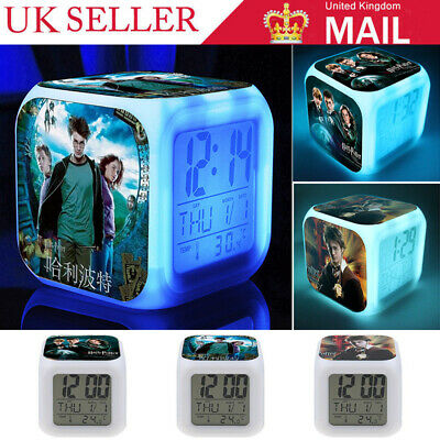 Harry Potter Movie LED 7 Color Change Alarm Clock Touch Light Christmas Gifts OL