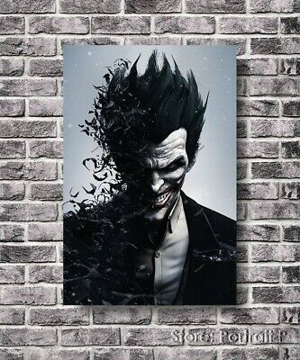 Joker Oil Painting The Killing Batman Art Hand-Painted Canvas NOT a Print 24x36
