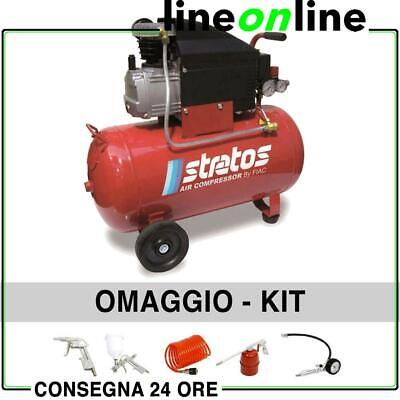Compressore aria 50 lt Fiac Stratos 50 coassiale 2Hp 8 bar + 5 Kit air tools
