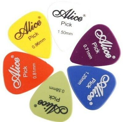 Guitar Picks Smooth 60pcs Alice Multi GAUGE ABS Custom Guitar Pics Plectrum UK