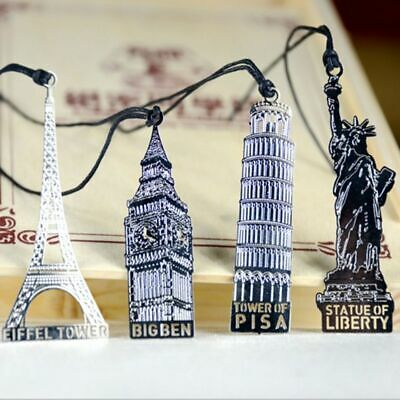 4 pcs Metal Bookmarks for Books  Stationery Office Accessories Marcador Bookmark