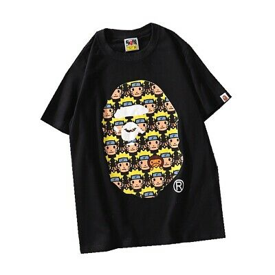 Bape a BATHING APE casual fire shadow print T-shirt summer round neck short slee