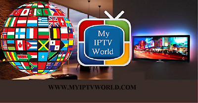 IPTV 1 MONTH Subscription for 2 Devices in Chile, Cdf, Brasil