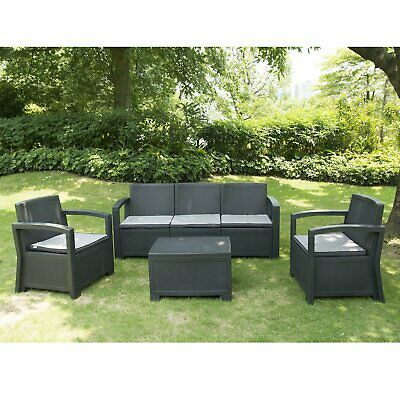 Rattan Garden Furniture Set Chairs Sofa Table Outdoor Patio Wicker 4/5 Seater