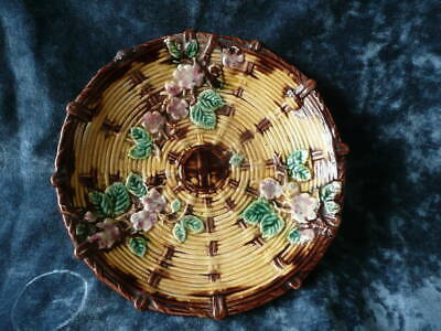 Antique Continental Majolica Fruit Comport Rare Collectable