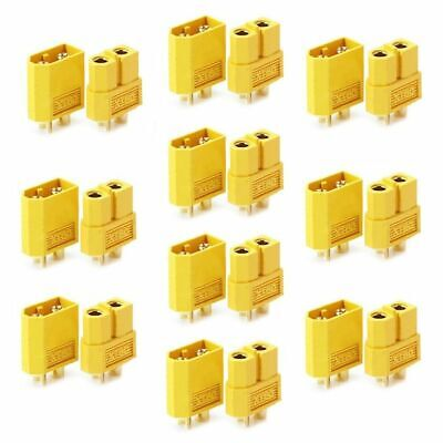 10Pcs 5Pairs XT60 Male Female Bullet Connectors Plugs for RC Lipo Battery