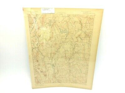 US Geological Survey GW Powell Connecticut New Milford, Topographical Map Sealed